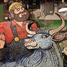 License plate Paul Bunyan and Babe the... - Art of Noah Sanders | Facebook