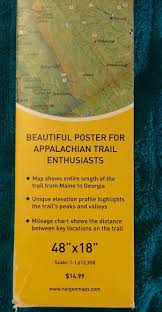 National Geographic Reference Map Appalachian Trail Wall Map By National Geographic Maps Staff 2016 Map Other