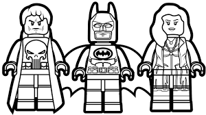 Small Picture Lego Batman and Lego Punisher Lego Scarlet Witch Coloring Book
