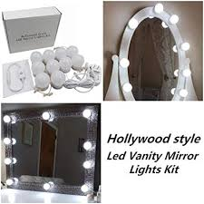 hollywood style led vanity makeup mirror lights kit with 10 dimmable bulbs lighting fixture strip