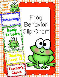 Frog Themed Behavior Chart Behavior Clip Chart Behavior Management Frogs Behavior