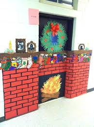 christmas classroom door decorations. Classroom Door Christmas Decorations School Fireplace Decoration Christian D