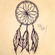 How To Draw A Dream Catcher Drawn dreamcatcher dreamcatch Pencil and in color drawn 71
