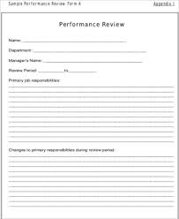 Employee Performance Review Example 7 Samples In Word Pdf