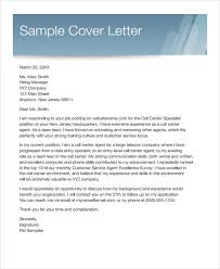 Cover Letter For Customer Service Representative Call Center Sample Letter Of Cover Letter For Customer Service