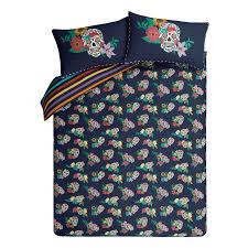 Skull Bedroom Curtains Sugar Skull Bedding Range Bedding George At Asda