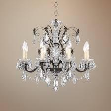 schonbek century bronze 24 wide crystal chandelier com within decor 12