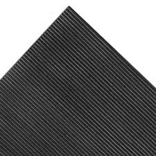 fm10 conductive v groove rubber mat