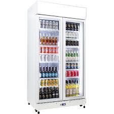 schmick 2 glass door commercial bar fridge showing 12 shelves extra shelves when you have