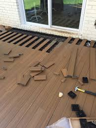 how to lay deck flooring on a concrete patio intended for patio flooring over concrete plan