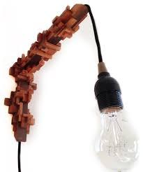 unique designs wooden creative wall mount light fixture with cord black cherry sconces