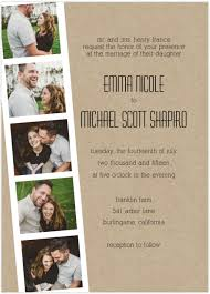 photo strip wedding invitation