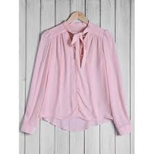 [<b>67</b>% OFF] 2019 Stylish Women's Bow <b>Tie</b> Collar Solid <b>Color</b> Long ...