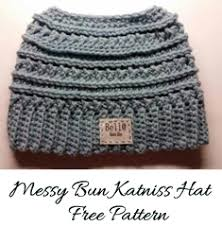 Crochet Bun Hat Free Pattern Magnificent Katniss Messy Bun Hat Pattern Crochet Messy Buns And Knit Crochet