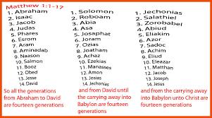 Genealogy Of Jesus Chart Matthews Genealogy Of Jesus Lindas Bible Study