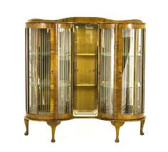 antique curio cabinet antique curio cabinet art cabinet walnut double door curved glass antique curio cabinet