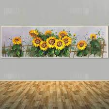 ingenious inspiration ideas sunflower wall decor home design pure hand painted abstract canvas oil painting picture on diy sunflower wall art with neoteric design inspiration sunflower wall decor home metal garden