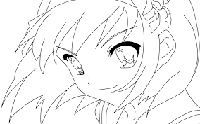 Small Picture Coloring Pages Of Anime Characters qlyviewcom