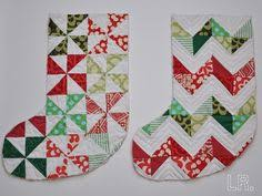 Christmas stockings If you like them Pinit for later. | Christmas ... & Inspiration for new stockings next year. Christmas Quilt PatternsChristmas  ... Adamdwight.com