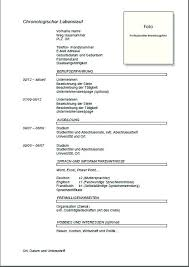 Chronological Sample German Resume Template Cv Doc Download