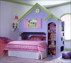 girls bedroom fabulous image of pink and purple girl decoration ideas using light stripe bedding set including house frame pastel wall paint green rugs for