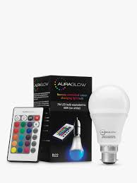 Auraglow 7w Bc A60 Led Bulb And Remote Control Multi