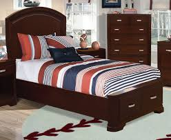 New Justin Full Storage Bed Deep Cherry Leons