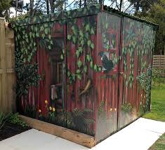 Small Picture garden shed mural Pinteres