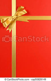 gold ribbon border christmas gift border gold ribbon bow background stock photo