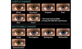 Contact Lenses Colour Chart Freshlook Colorblends Plano 2 Pack Freshlook Contact Lenses