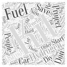 Cloud Saver Hydrogen Fuel Boost Kit Fuel Saver Word Cloud Concept Royalty Free