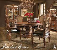 Luxury Kitchen Table Sets Michael Amini 5pc Villa Valencia Round Oval Dining Table Set 4