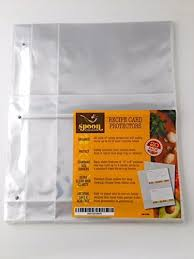 Where To Buy Recipe Cards In Stores Recipe Card Protectors Refill Sheets 20 Pack Clear 2 Cards Per Sheet