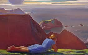 us artist rockwell kent s annie picture which depicts a dramatic skyline with the donegal girl lying on the cliffs picture courtesy of plattsburgh state
