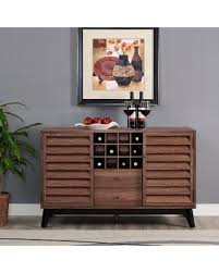 wine and bar cabinet. Dover Wine Bar Cabinet Color: Walnut And