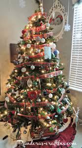 Plaid Christmas Tree Deer Antler Christmas Tree Christmas Lights Decoration
