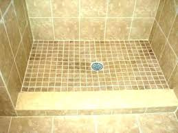 how to build a tile shower pan custom pans borders for showers installation diy floor