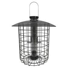 droll yankees sunflower domed cage feeder in black offers bird selective feeding with attractive sleek styling