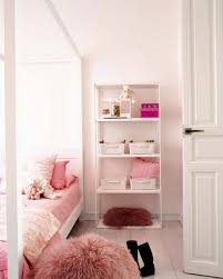 hardwood floor design in chic little girl room feat comfy puff and white open shelves plus accessoriesmesmerizing pretty bedroom ideas
