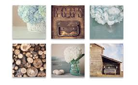 fullsize of great farmhouse wall decor rustic wall art set six prints blue design six prints