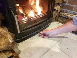 the vents to control a wood burning stove
