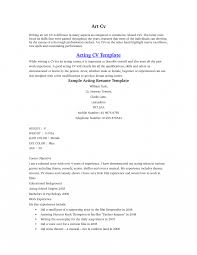 Resume Examples No Experience Unique Acting Resume Example Template Examples No Experience 50