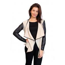 image is loading new womens las black faux leather sleeve and