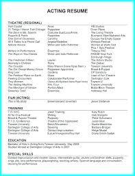 Theatre Resume Custom Musical Theatre Resumes Letsdeliverco