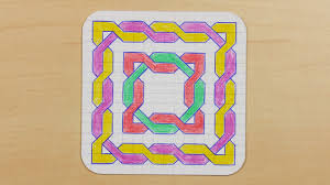 Graph Paper Draw How To Draw Graph Paper Knots Celtic Mandala Doodle 24 Youtube