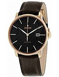 amazon co uk rado watches rado men s coupole classic 41mm brown leather band automatic watch r22877165