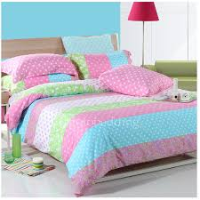 awesome artsy pink striped girls 100 cotton duvet covers