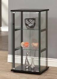 display curio cabinet curio display cabinet knack black 3 shelf glass case collectibles floor curio display
