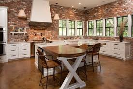 Brick Kitchen Kitchen Brick Kitchen Wall Modern Decorations Elegant Decorating