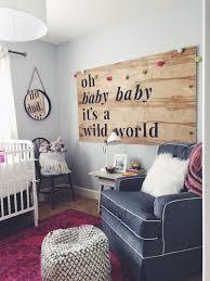 Winnie Wilde's Nursery - Bright, Ecclectic, whimsical nursery - DIY Wood  Nursery Sign -